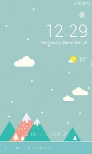 Pastel Snow Dodol Locker Theme- screenshot thumbnail