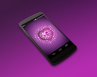 Diamond Heart 3D LiveWallpaper screenshot 2