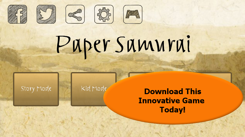 Paper Samurai - screenshot