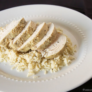 Slow Cooker Greek Chicken with Rice.