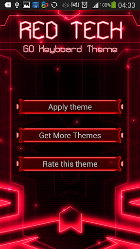 GO Keyboard Red Tech Theme