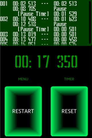 Retro Cyber StopWatch Timer - screenshot
