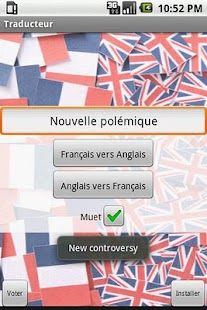 Traducteur Anglais/Francais- screenshot thumbnail