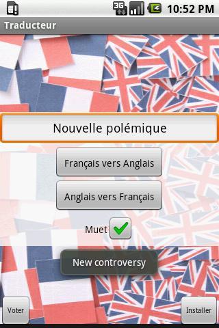 Traducteur Anglais/Francais - screenshot