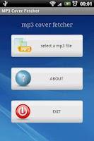 Screenshot of mp3 cover fetcher