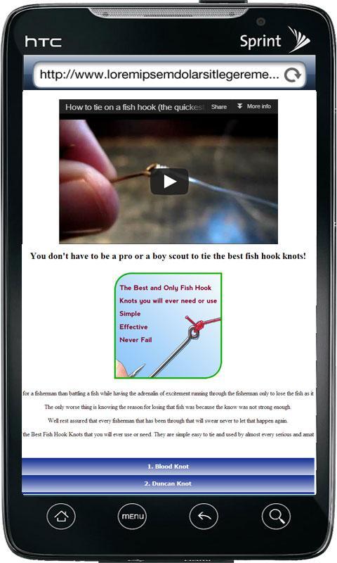 Fishing Hook Knot Guide – screenshot