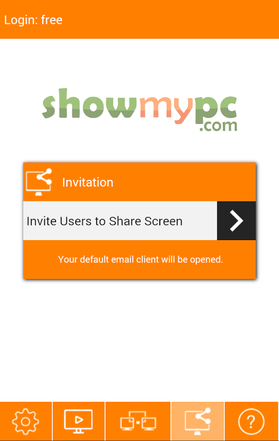 ShowMyPC Remote Support Access- screenshot