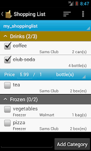 Grocery Helper - Lite - screenshot thumbnail