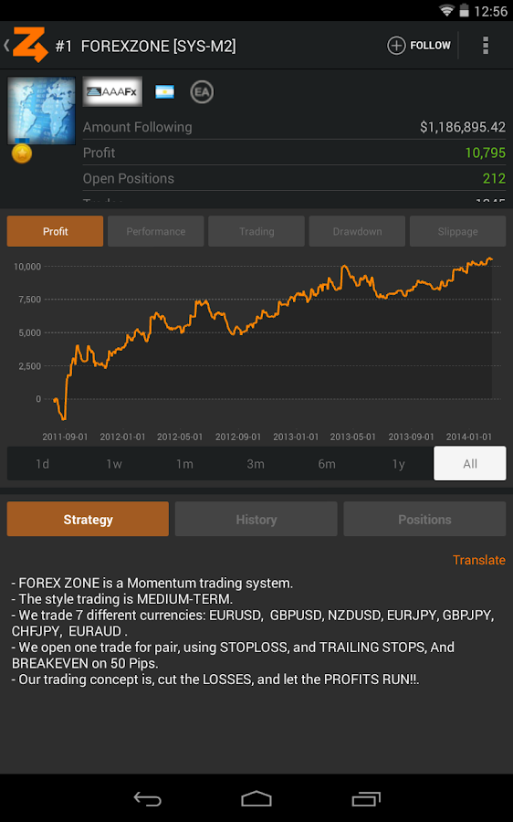ZuluTrade - screenshot
