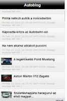 Screenshot of Autóblog