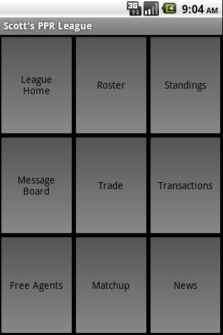 Fantasy Sports TeamTrax - screenshot