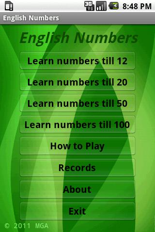Learn English Numbers- screenshot