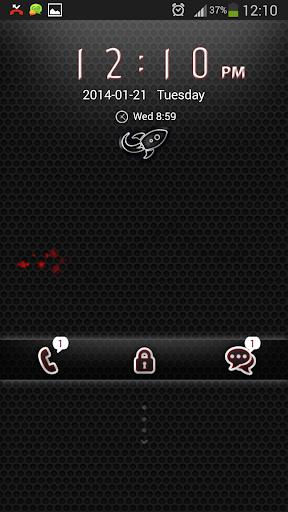 無料个人化AppのGOロッカーブラックレッド|記事Game