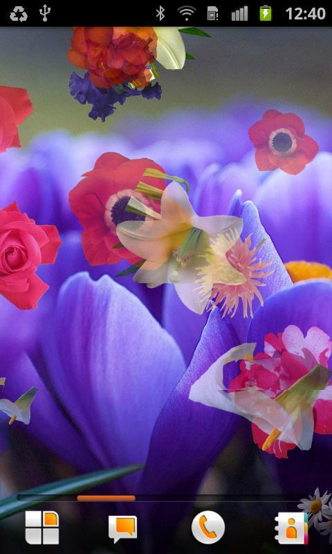 Flowers Live Wallpaper- screenshot