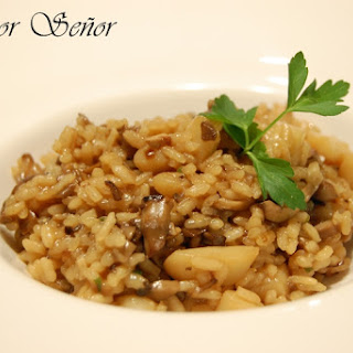 Mushroom and Cuttlefish Risotto.