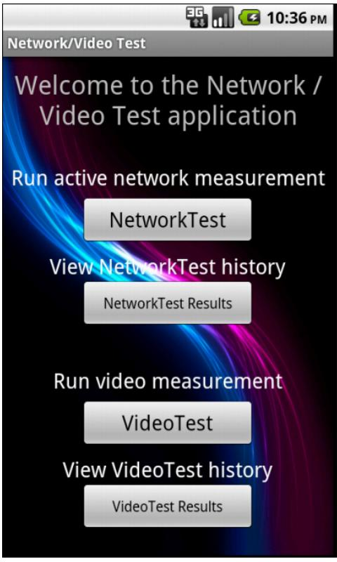 Network/Video Test- screenshot