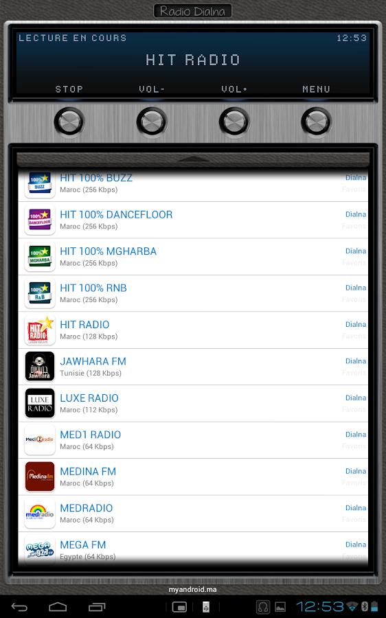Radio Dialna (Moroccan radios) - screenshot