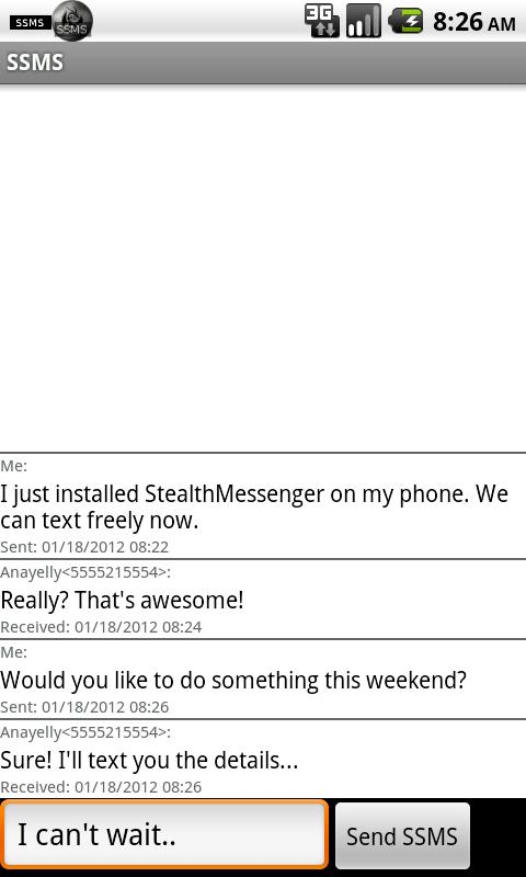 Stealth Messenger - screenshot