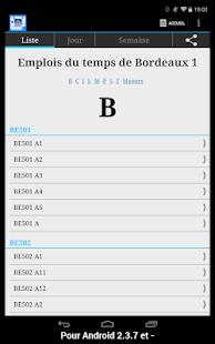 University Bordeaux Schedule - screenshot thumbnail