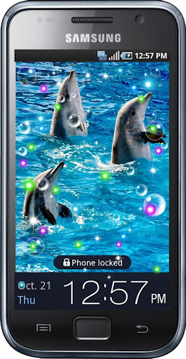 Dolphins Dances live wallpaper
