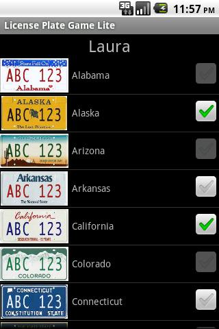 License Plate Game Lite - screenshot