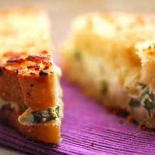 Asparagus And Cream Cheese Sandwich.