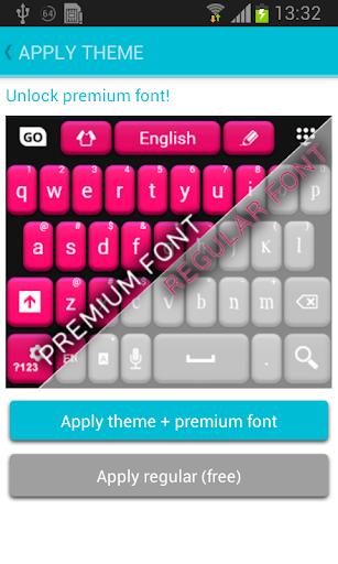 粉红色和黑色免费键盘