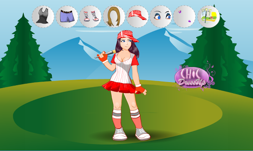 Baseball Girl Dressup