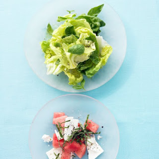 Watermelon Salad with Feta and Basil
