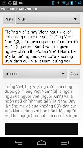 Vietnamese Conversions