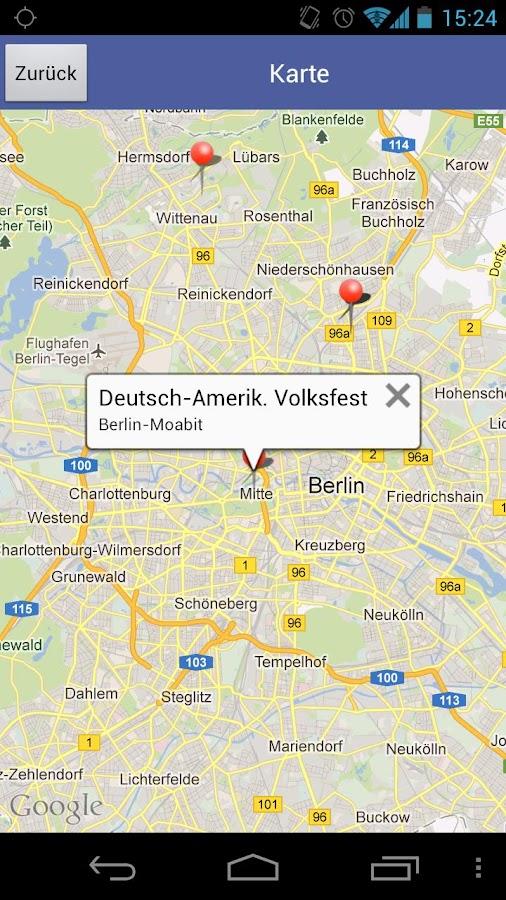 DSB Volksfestfinder- screenshot