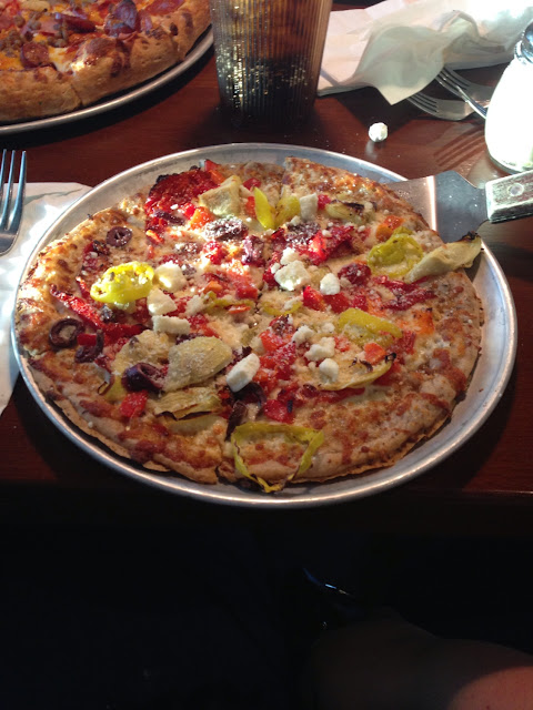 Farmer's Market gluten-free pizza. Yum!