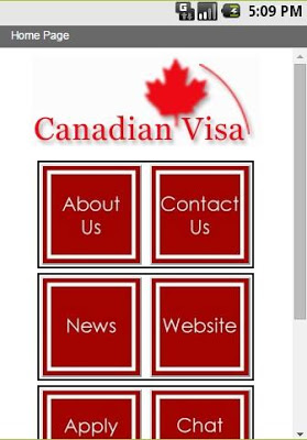 Canadian Visa Services - screenshot