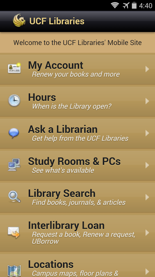 UCFMobile - screenshot