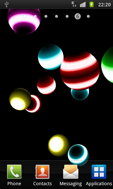 NEON BALL 3D Live Wallpaper - screenshot