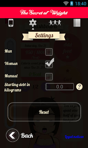 Screenshots for The Secret of Weight