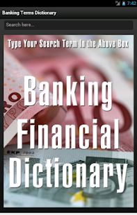 Banking Financial Dictionary