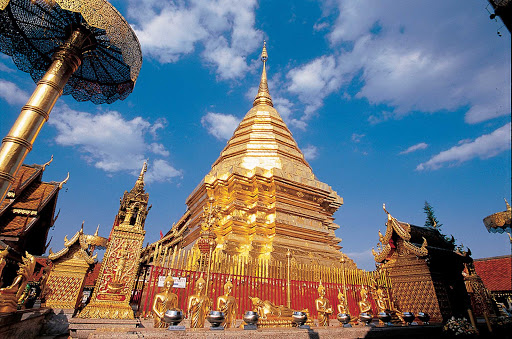 Thailand-pra-that-doi-suthep - Wat Phra That Doi Suthep is a Theravada Buddhist temple in Chiang Mai Province, Thailand.