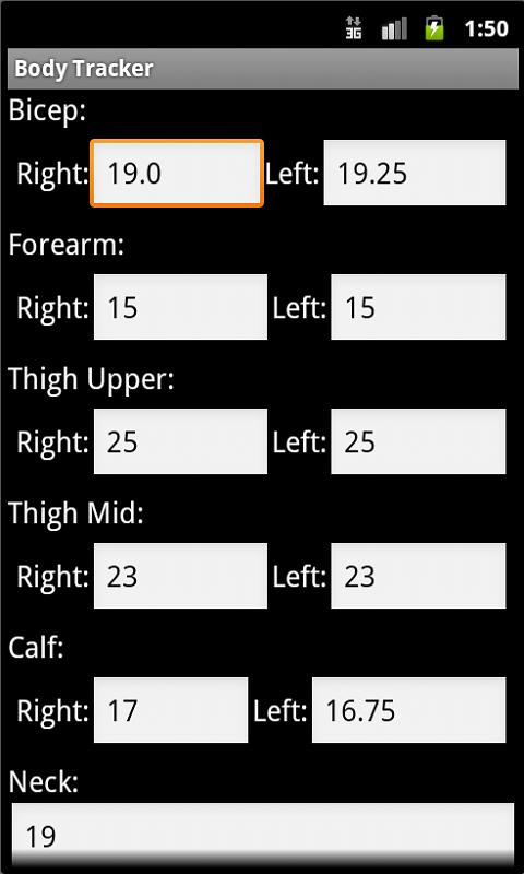 Body Fat Calculator - screenshot