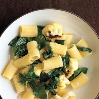 Pasta with Cauliflower and Collards