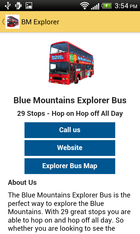 Blue Mountains Explorer Bus- screenshot