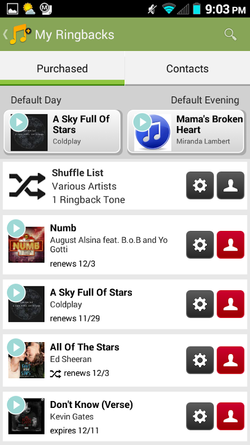 Sprint Music Plus- screenshot