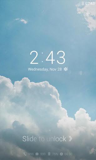 Blue Sky Dodol Locker Theme