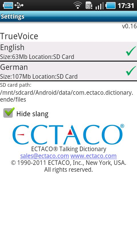 English - German Suite - screenshot