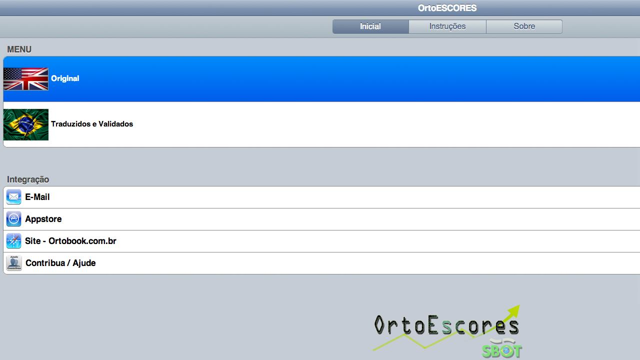 OrtoEscores - screenshot