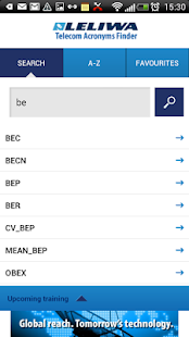 Telecom Acronyms Finder Leliwa- screenshot thumbnail