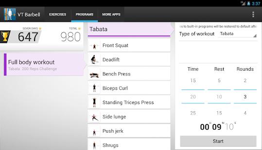 Virtual Trainer Barbell - screenshot thumbnail