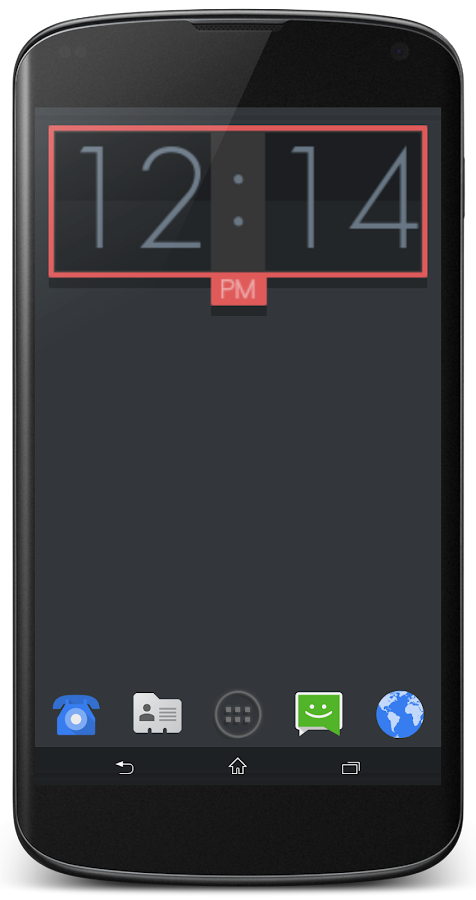 UCCW - Flatron Clock - screenshot