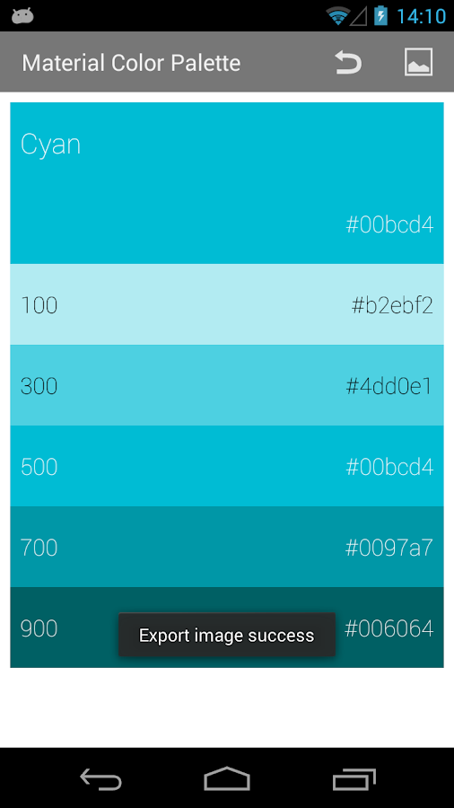 Material Color Palette - Android Apps on Google Play