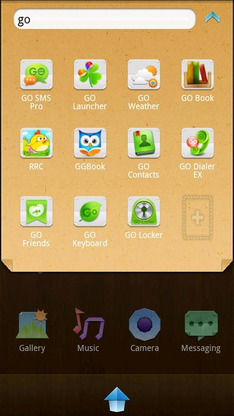 Paper Go Launcher EX Theme - screenshot